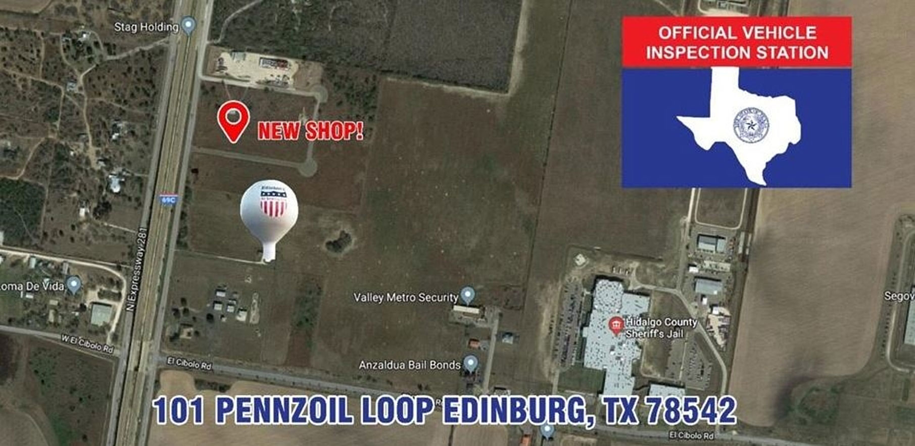 Location for the new US 281 Truck And Trailer Services truck shop In Edinburg