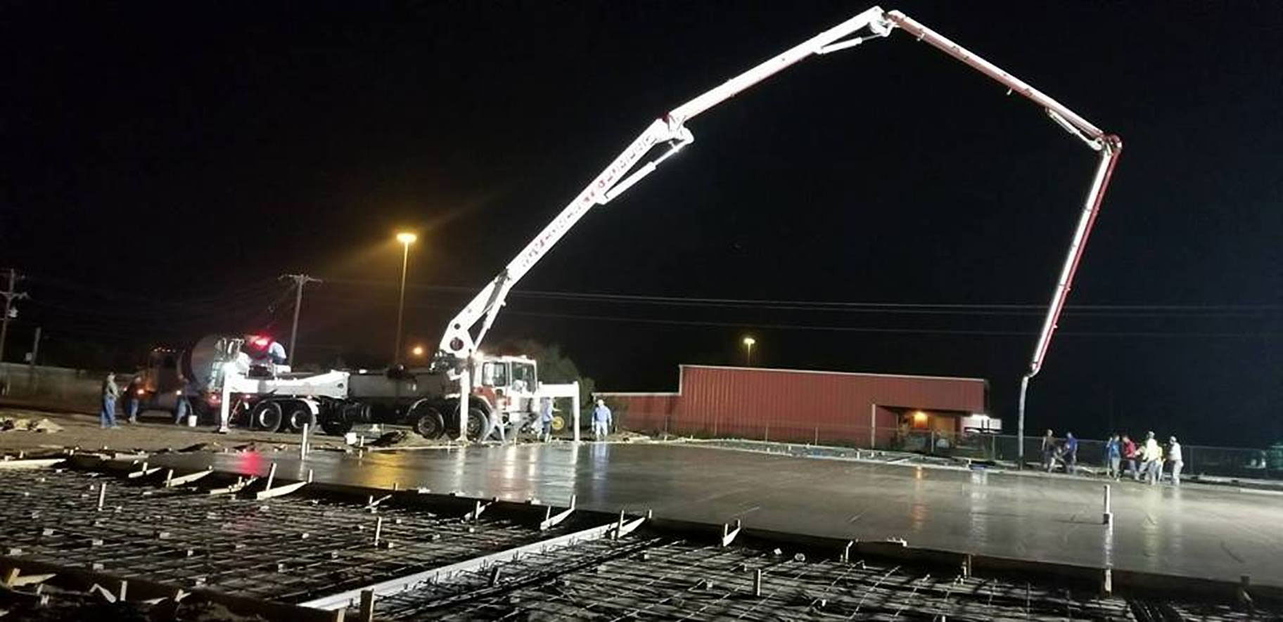 Night time construction work at the new US 281 Truck And Trailer Services LLC