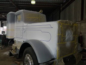 Vintage look for truck in Edinburg through paint and body work by US 281 Truck And Trailer Services LLC